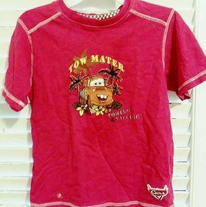 Boys Disney Cars Mater T-shirt Size 5-6